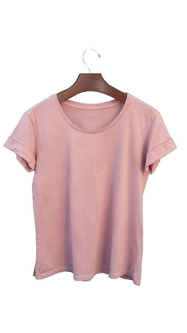 Camiseta Feminina Lisa Algodão Orgânico + Tingimento Natural