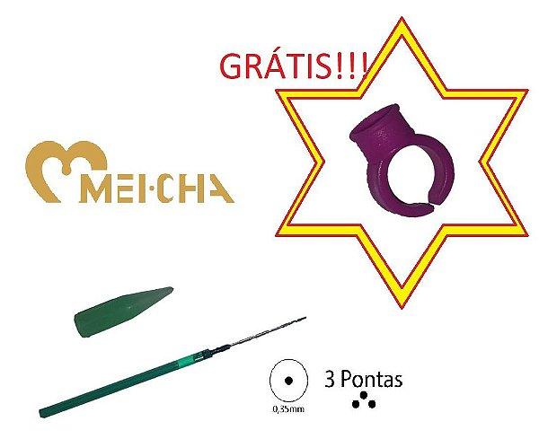 AGULHA SIMILAR MEICHA COM PONTEIRA (3 PONTAS)