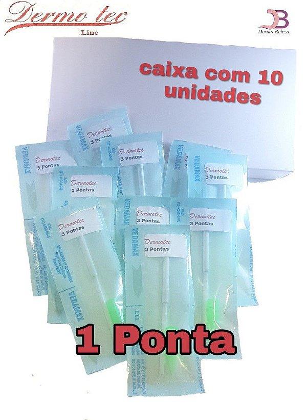 Caixa com 10 agulhas Dermotec 1 Ponta