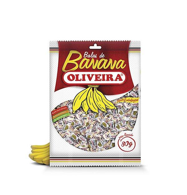 Bala de Banana Oliveira - 50 Pacotes de 80g