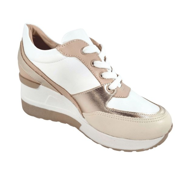 Tênis Feminino Plataforma Sneaker - Recortes Color
