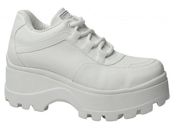 Tênis Feminino Chunky Sneaker Plataforma Tratorado Quiz - Branco