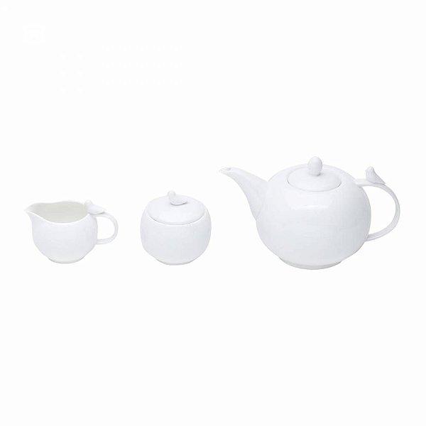 Conj. para chá Birds - branco