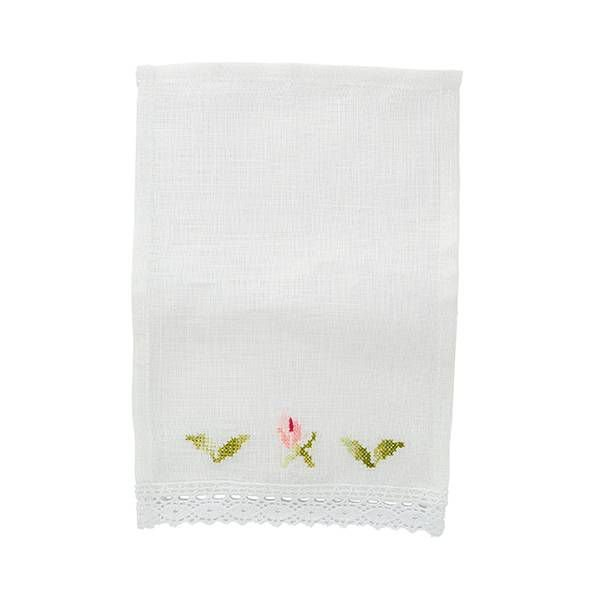 Mini guardanapo de linho (02 lugares) - bordado de flor
