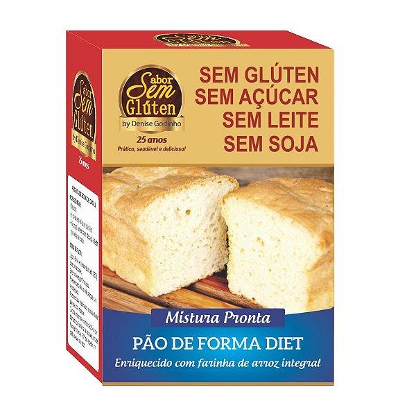 Pão de Forma Diet Sem Glúten Sem Açúcar Sem Leite Sem Soja