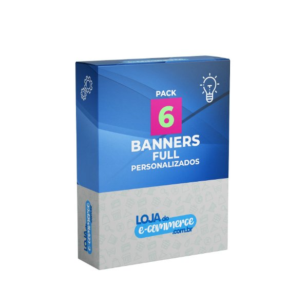 Pacote 6 Banners Full Personalizados