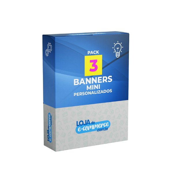 Pacote 3 Banners Mini Personalizados
