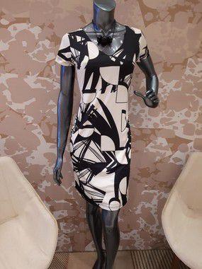 Vestido  Tubinho  Decote V Estampado - 9692-1