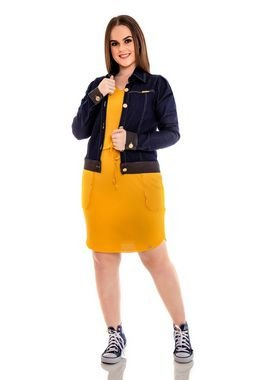 Jaqueta Jeans Com Costura Aparente Hadaza - 18063