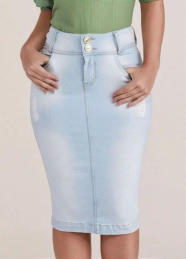 Saia Jeans Clara Midi Titanium Jeans - 24872