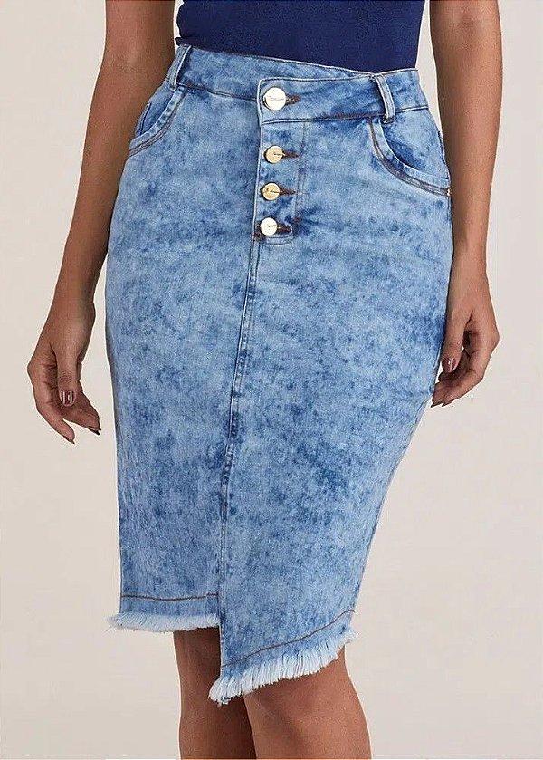 Saia Jeans Barra Assimétrica Titanium Jeans - 24991