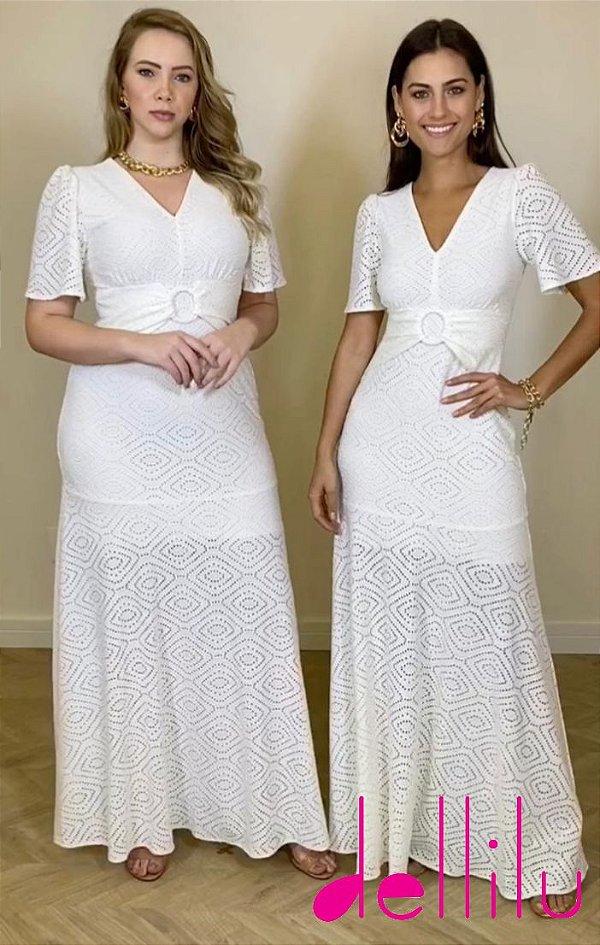 VESTIDO LONGO OFF WHITE - 280838
