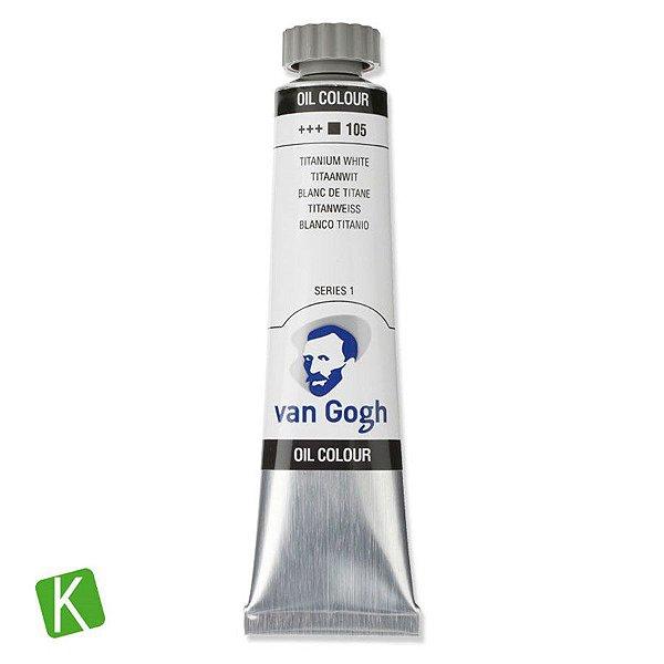 Tinta a Óleo Van Gogh 20ml 105 Titanium White