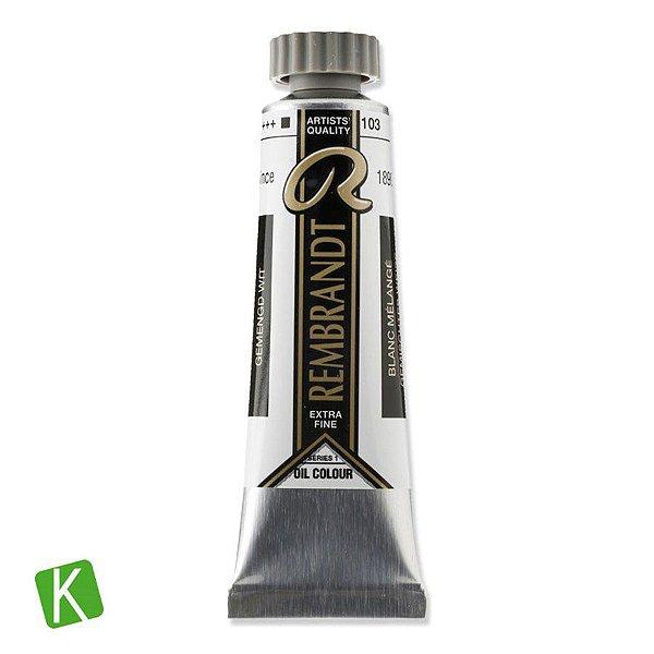 Tinta a Óleo Rembrandt 15ml 103 Mixed White