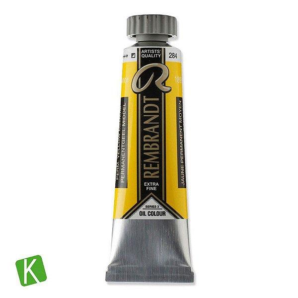Tinta a Óleo Rembrandt 15ml 284 Permanent Yellow Medium