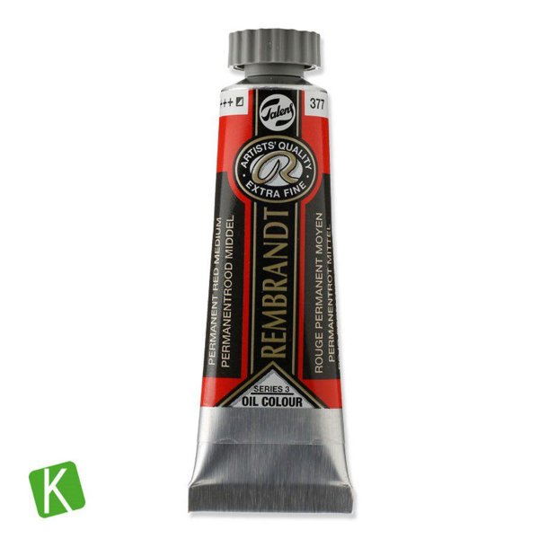 Tinta a Óleo Rembrandt 15ml 377 Permanent Red Medium