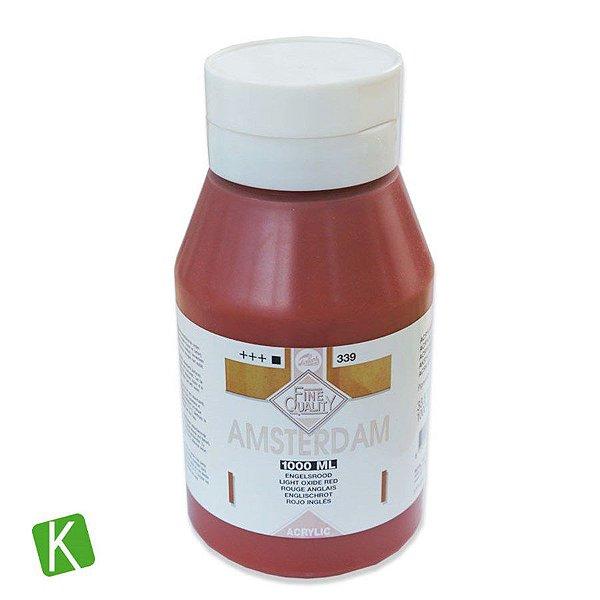 Tinta Acrílica Talens Amsterdam 1 Litro 339 Oxide Red
