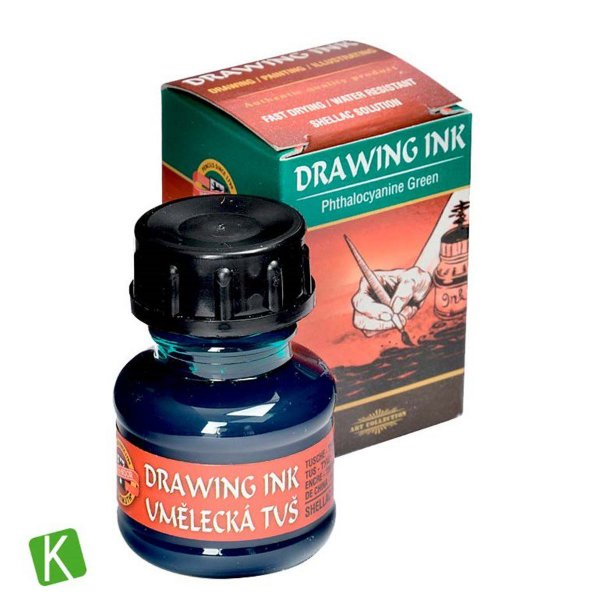Tinta Drawing Ink para Caligrafia Verde 20g