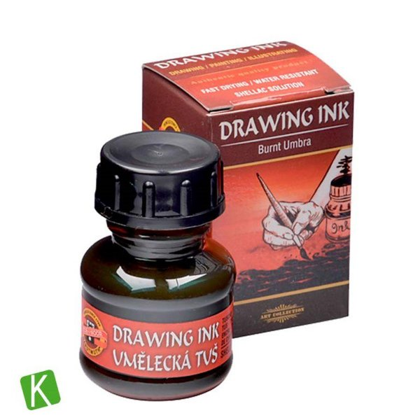 Tinta Drawing Ink para Caligrafia Sombra Queimada 20g