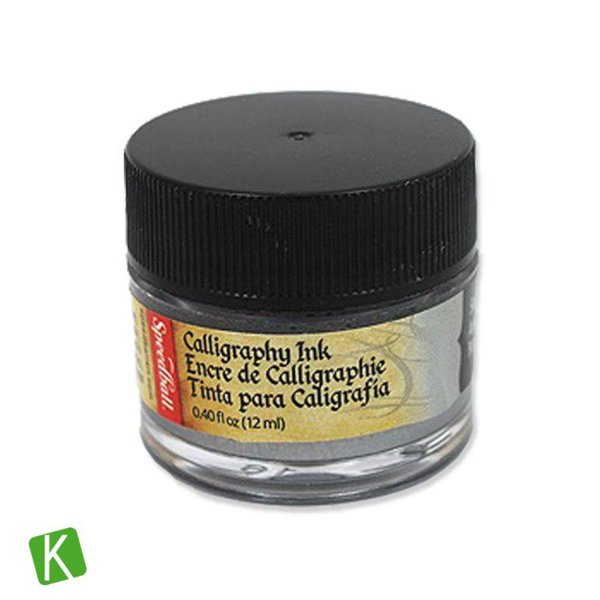 Tinta para Caligrafia Speedball Prata 12ml