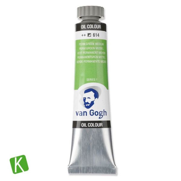 Tinta a Óleo Van Gogh 20ml 614 Permanent Green Medium