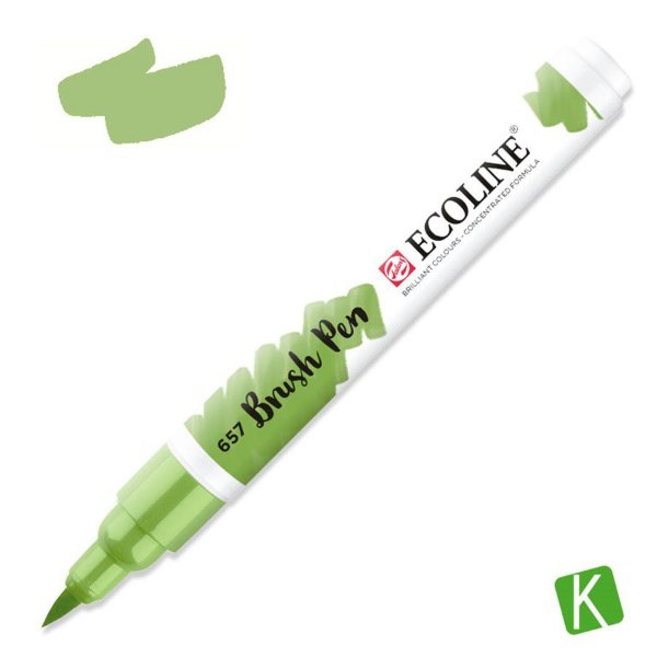 Caneta Ecoline Brush Pen Bronze Green 657
