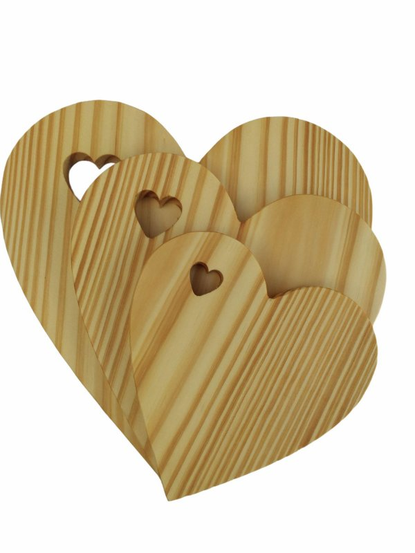 Tábua decorativa pinus - mesa posta - Três amores
