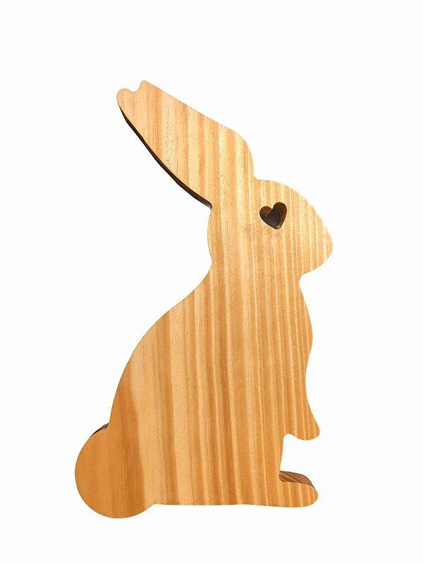 Tábua Decorativa Petisqueira Coelho Da Páscoa Pinus Para Mesa Posta - 25cm