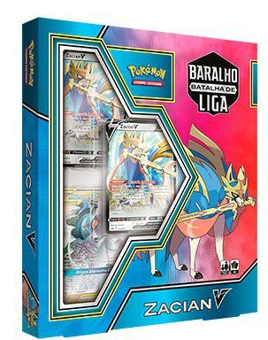 Pokemón Box Batalha de Liga - Zacian V / Box League Battle - Zacian V