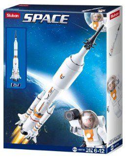 Blocos Astronautas Foguete 167 peças