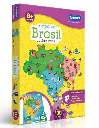 Quebra Cabeça 100 peças Mapa do Brasil