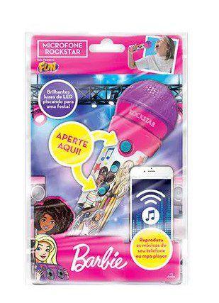Microfone Barbie Rockstar com função MP3