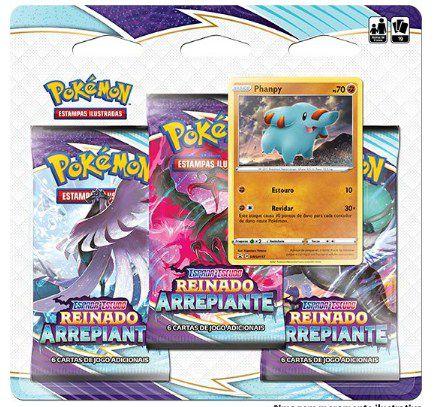Pokémon Carta Espada e Escudo S.6 Reinado Arrepiante - Blister Triplo