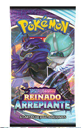 Carta Pokémon Espada e Escudo Serie 6 - Booster Reinado Arrepiante