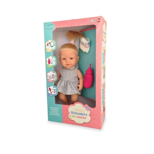 Boneca Brincadeira de Menina - Faz Xixi