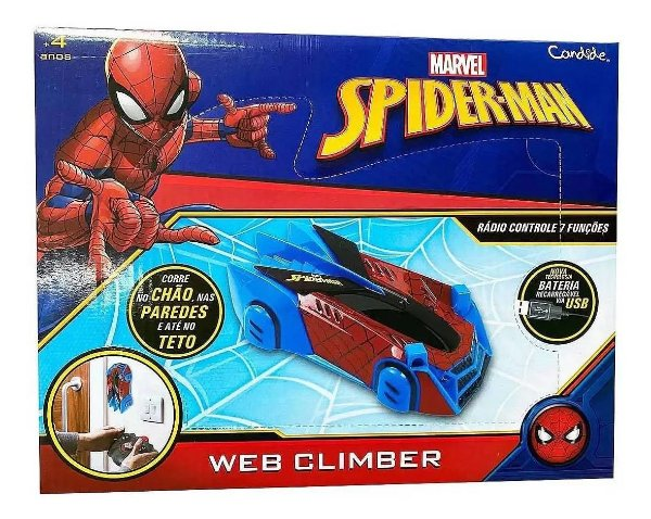 Carro de Controle remoto Spiderman Web Climber