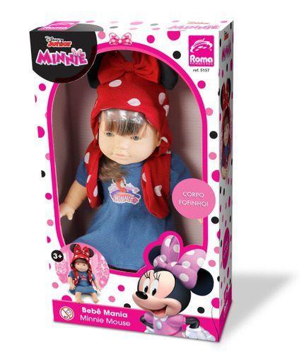 Boneca Bebê mania Minnie Mouse
