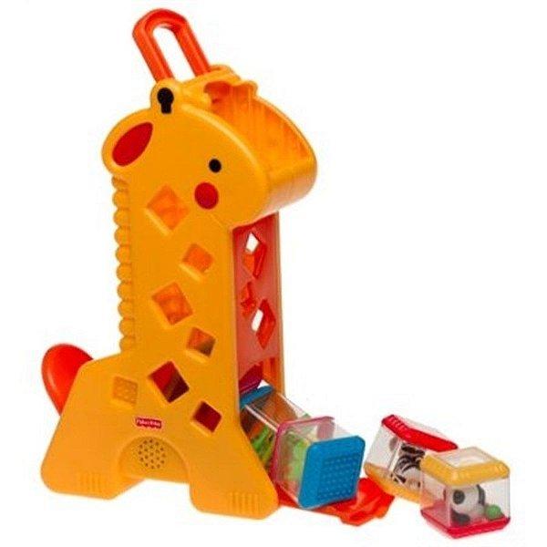 Girafa Peek a Blocks Fisher Price