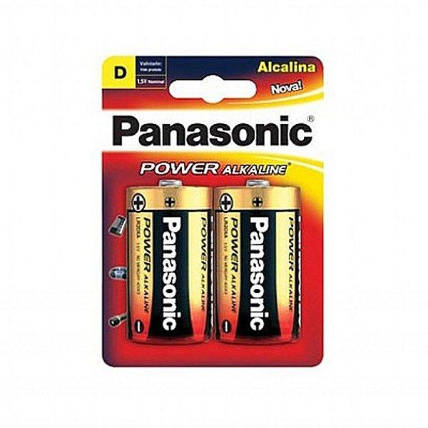 Cartela Pilha Panasonic Alkaline D