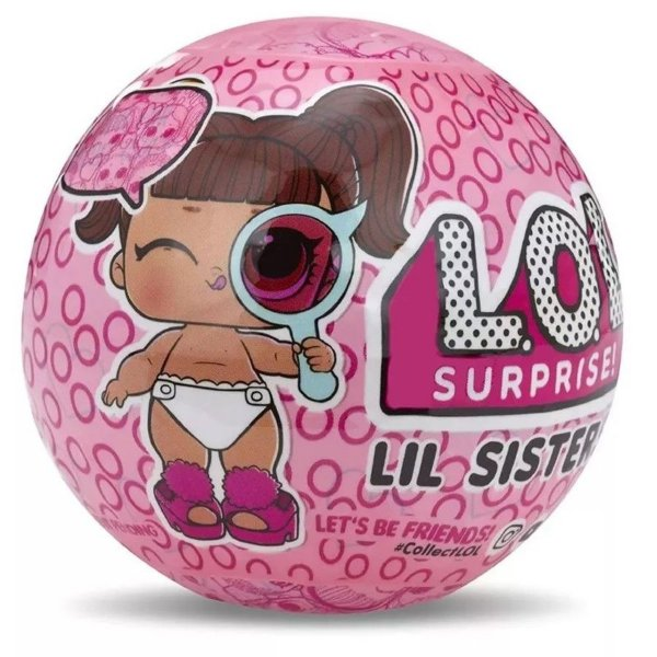 Boneca LOL 5 Surpresas LIL Sister Ball