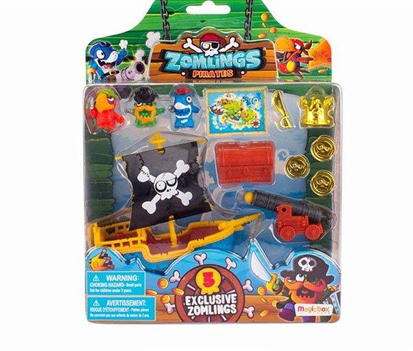 Zomlings - Playset Navio Pirata Zumbi