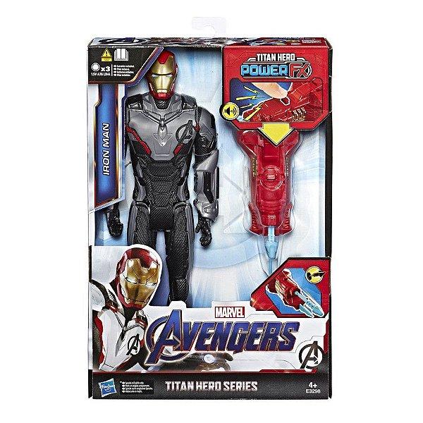 Vingadores Ultimato - Homem de Ferro com Lançador Power FX