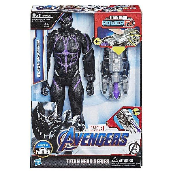 Vingadores Ultimato - Pantera Negra com Lançador Power FX