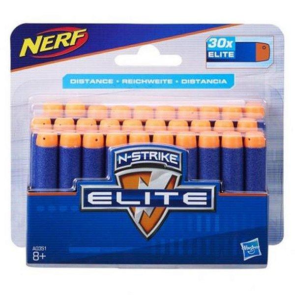 Nerf Refil Dardos Elite com 30 dardos
