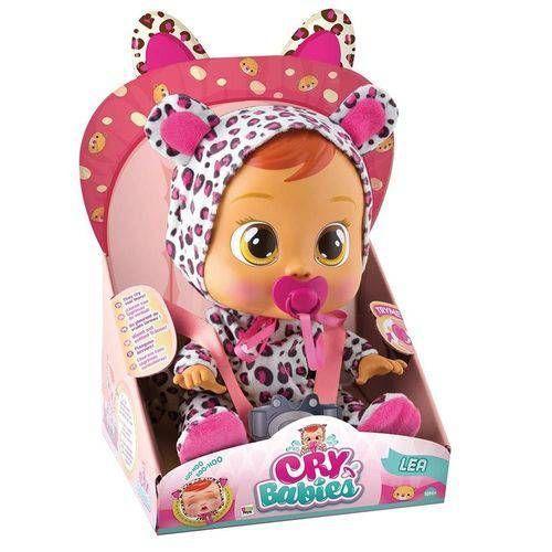 Boneca Cry Babies Lea Leopardo