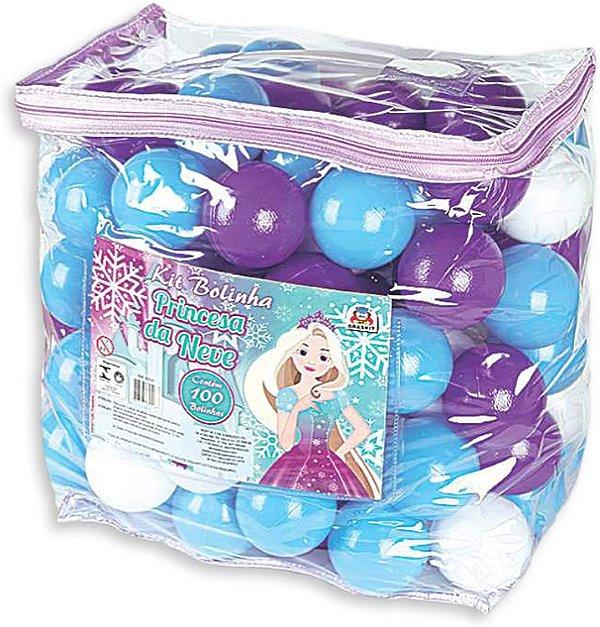 Pacote com 100 bolinhas Princesa da Neve