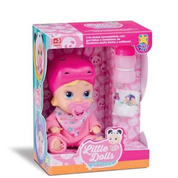 Boneca Little Dolls Soninho faz xixi