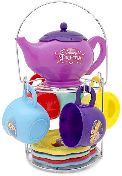 Jogo de Chá com suporte das Princesas