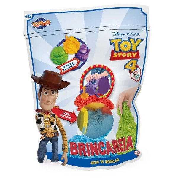 Areia de modelar Brincareia Toy Story saquinho