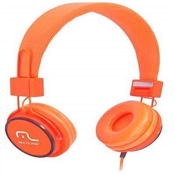 Fone De Ouvido Headphone Fun Laranja